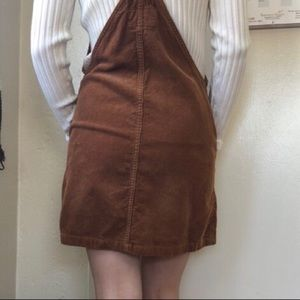 Forever 21 Dresses - Brown corduroy overall bucket dress